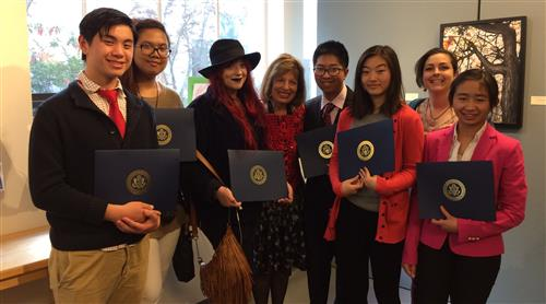 Students with Rep. Jackie Speier