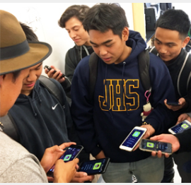 Filipino Tech Entrepreneur visits JHS