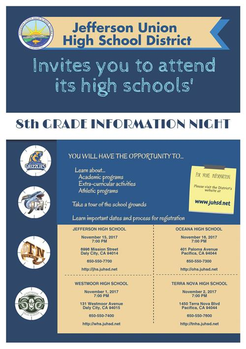8th Grade Information Night